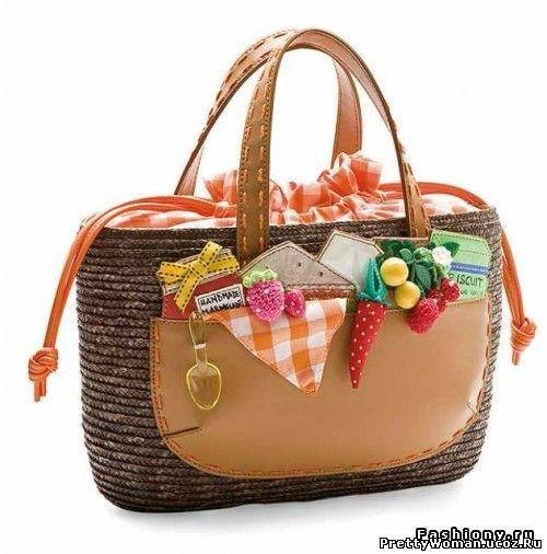 Модные и яркие сумки 2012 фото.